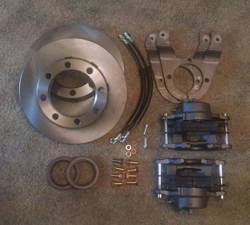 Dana 60 Disc Brake Conversion Kit For 1967-and-Up Ford Rear Axle