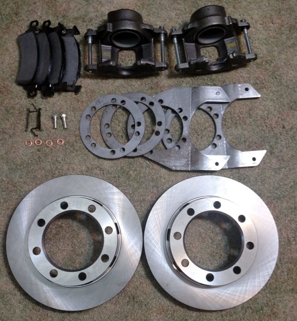 Dana 44 Disc Brake Upgrade Kit For 1976-79 Ford Front Axle - 8 Lug